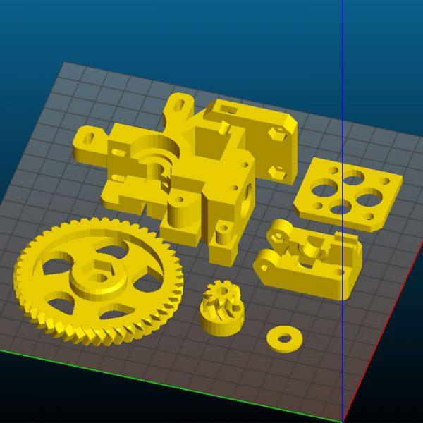 Extruder Wade - Elementy drukowane