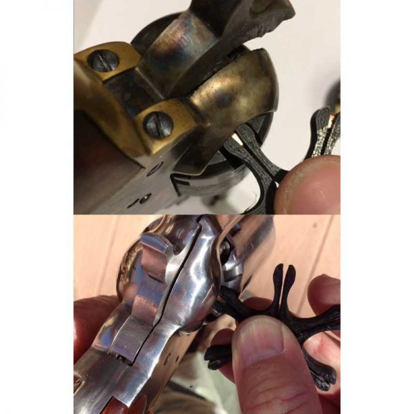 Zakładanie kapiszonów Colt Remington