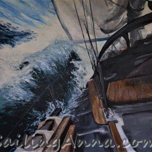 S/Y Polonus niesiony przez siódemkę - obraz Ania Wierzbicka